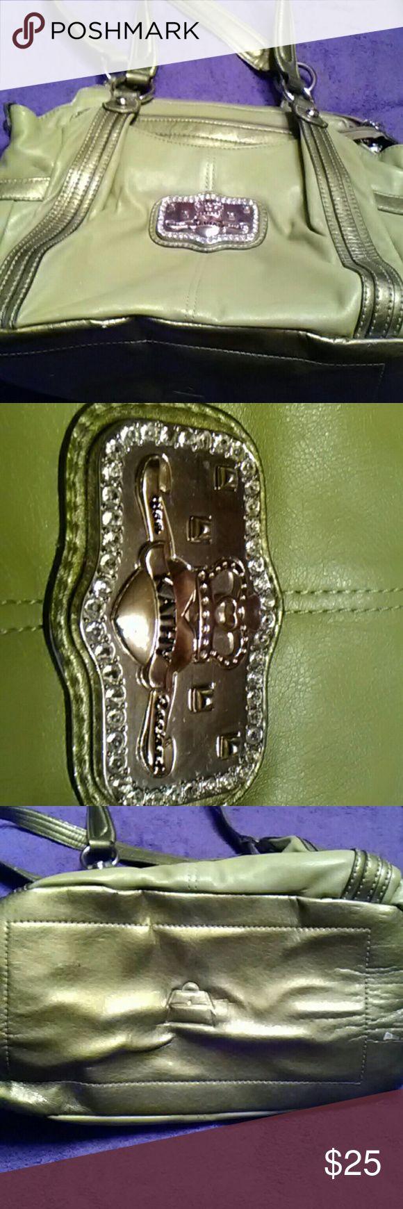 Green Handbag Gently used, some paint chips on bottom of bag Kathy Van Zeeland Bags Satchels