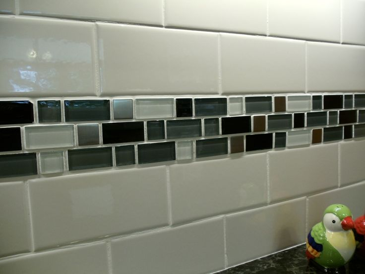 Backsplash subway tile with mosaic tile- exactly what I'm thinking for our  remodel - 15 Best Mom Kitchen Images On Pinterest