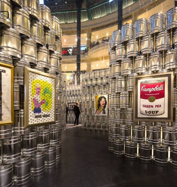 A Temporary Andy Warhol Museum In Lisbon shopping mall :: LIKEarchitects.