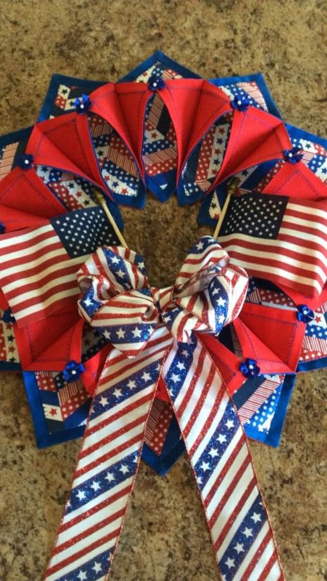 382 Best Images About Fold And Stitch Wreath On Pinterest