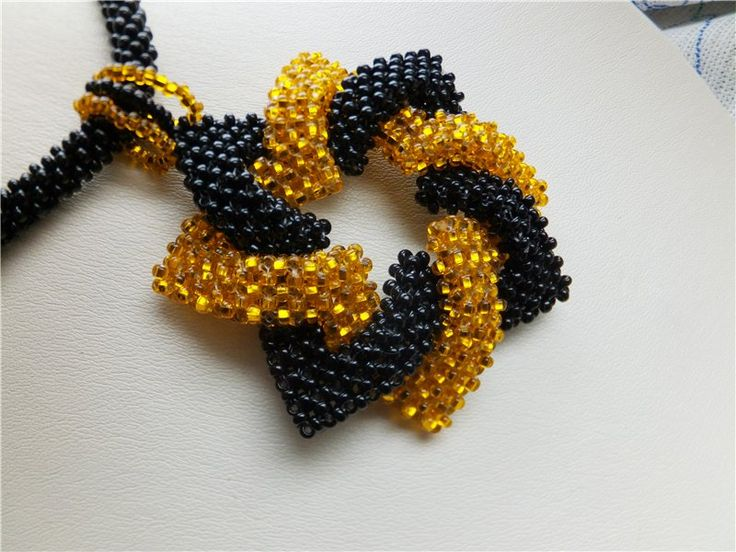 Geometric flourish. MK. | Biser.info - all about beads and beaded works