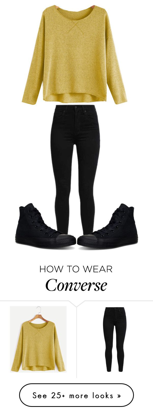 """I love the black converse  They match EVERYTHING "" by sydthekyd01 on Polyvore featuring Levi's and Converse"