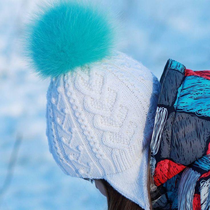 Новая, теплая, двойная #шапка с ушками #frozen #knit #knithat #strikkedilla…