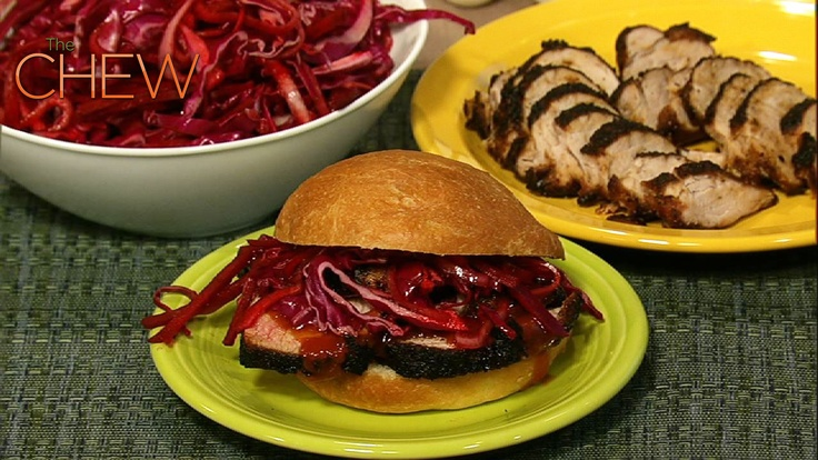 ... Rubbed Pork Tenderloin and Pickled Cabbage Sandwiches recipe. #thechew
