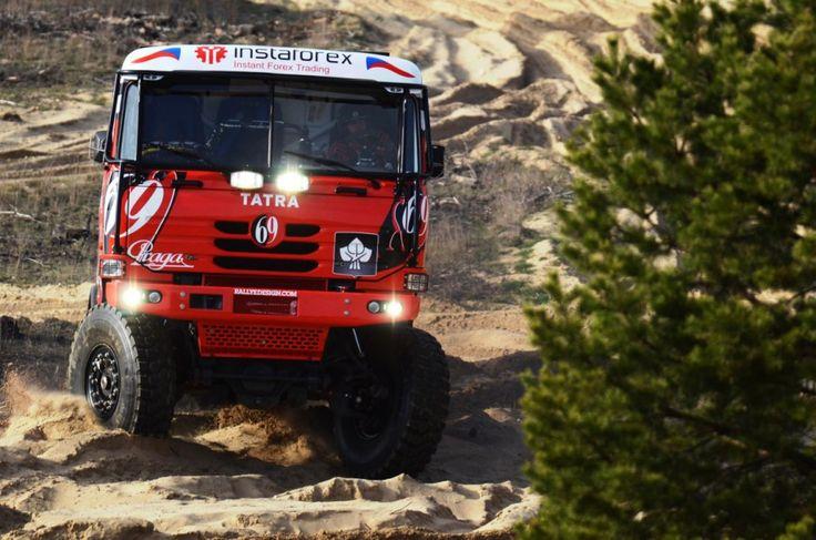 Instaforex Loprais Team - rebranding of the complete fleet, design and wrapping, design for racing car Tatra for Rally Dakar 2013 including wrap.