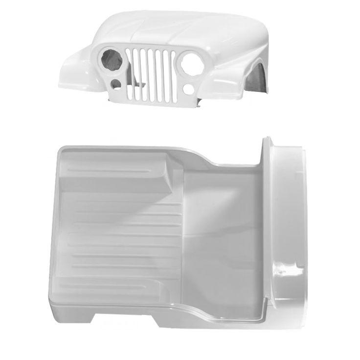 Carroceria em Fibra Branca Jeep Willys 55 à 83 Cj5 (Completa sem o quadro)