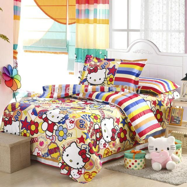 Bedding Sets Home Textiles Bedclothes,Hello Kitty Kids Bedding Set For Children Cartoon Pattern Bedroom Comforter Size Affordable Comforters Duvet On Sale From New_dv, $138.3| Dhgate.Com