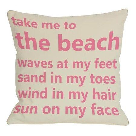 beach pillow <3