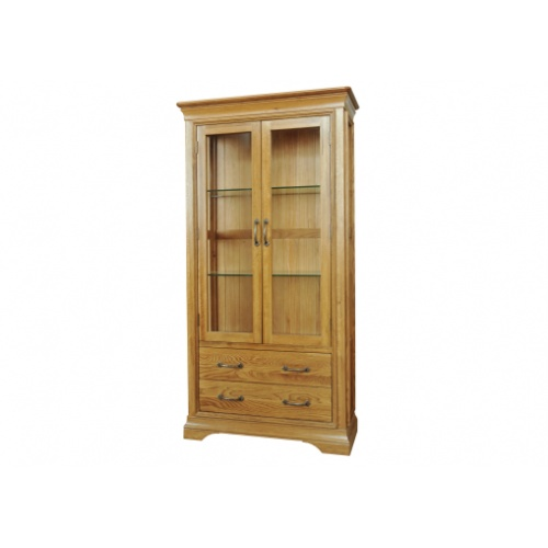 Solid Oak - FRGD1 Lyon Oak Glazed Display Unit   www.easyfurn.co.uk