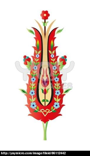 Ottoman art flowers