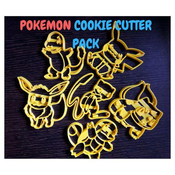 Pokemon Cookie Cutter. Pokemon fondant. Pokemon by AwesomeCutters
