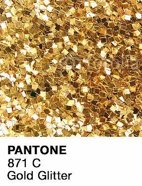Pantone Gold Glitter | Sticker