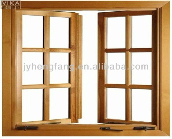Pvc French Casement Window Key Lock Safety Window With