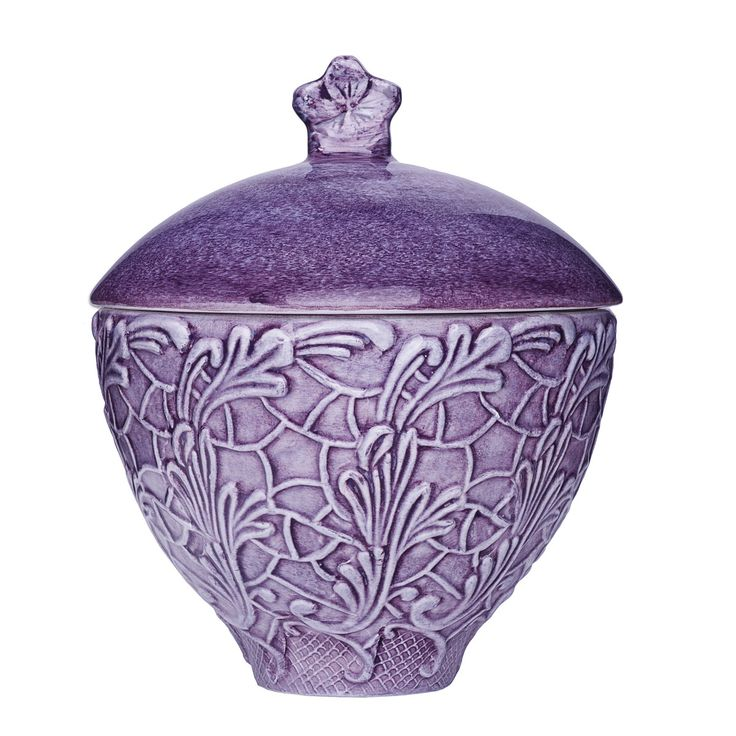 Mateus Lace Bowl with Lid in Purple