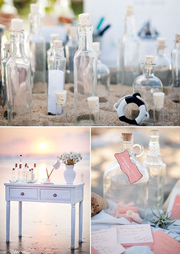 bottle details for a nautical wedding