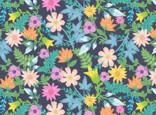 Pattern Blooming meadow