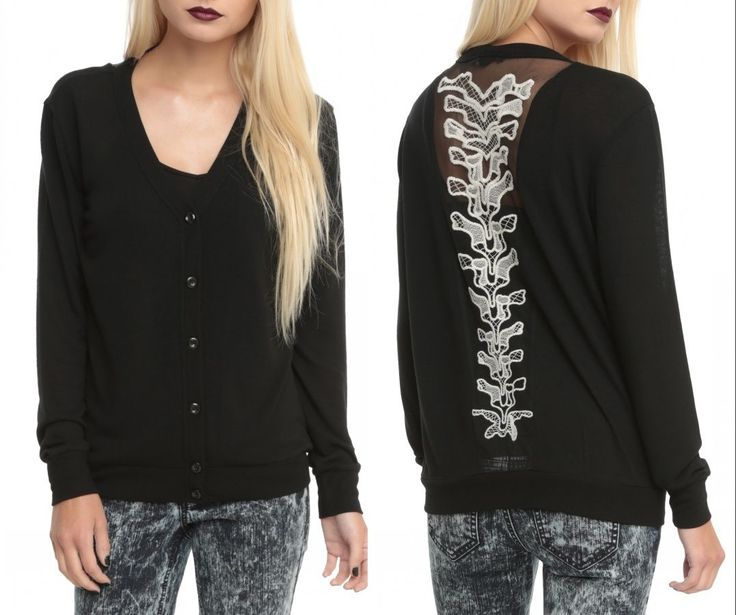 Skull White Spine Skeleton Cardigan Punk Goth Rock Hot Toipc | eBay