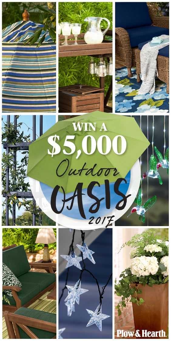 I just entered to WIN a $5K backyard makeover from Plow & Hearth and you should too! Check it out at plowhearth.com