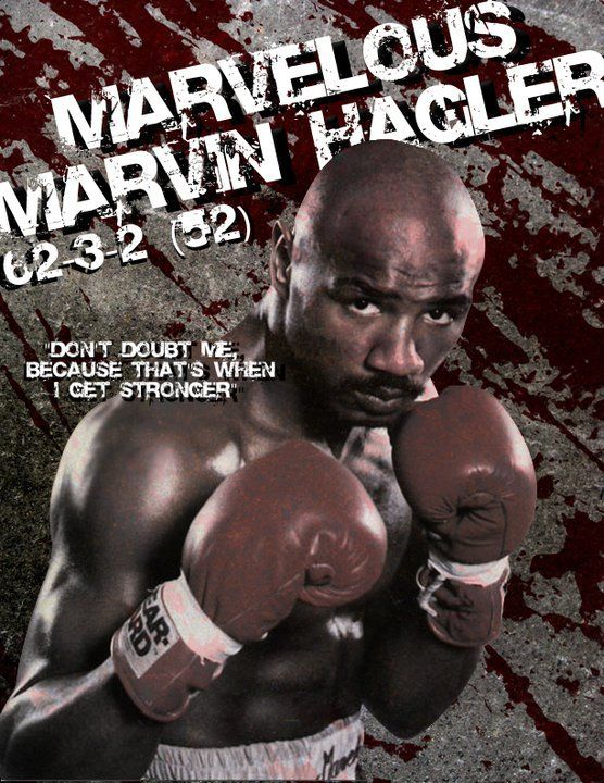MARVELOUS MARVIN HAGLER (1973-87). A natural right-hander, Hagler switched over to the southpaw style in order to have his power hand—his right—closer to his opponent. It was a style that worked well for Hagler, as proven by his 62 wins with 52 KOs and only three losses in 67 fights for this all-time great middleweight champion. - Sugar/Atlas (Aethon)