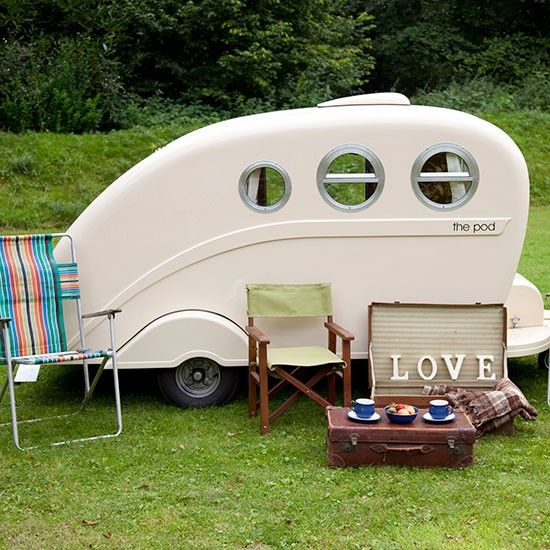 Squeeze in an extra guest with a micro caravan | Garden | PHOTO GALLERY | Ideal Home | Housetohome.co.uk. Buy from podcaravans .co .uk