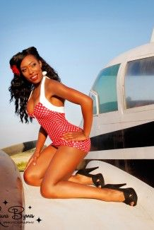 Red Polka Dot badpak Bettie Polkadot Rood|Pinup Couture online