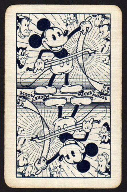 Vintage Micky Mouse playing card. Love this Mickey playing the saw. Great image!