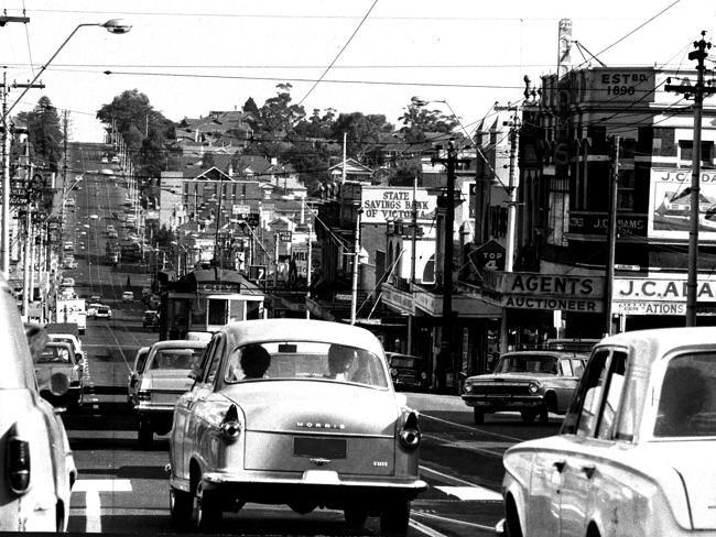 Victoria, Australia 1960s: 1966: Burke Rd, Camberwell. Picture: Herald Sun Image Library