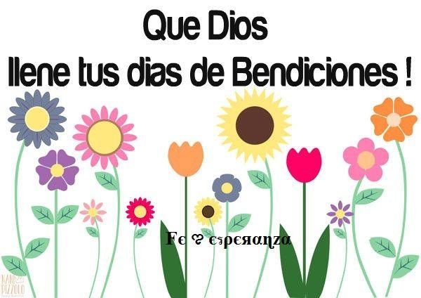 Que Dios te llene de bendiciones hoy y siempre!
