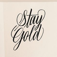 stay gold tattoo - Google Search