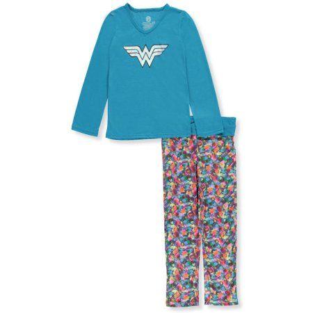 Wonder Woman Big Girls' 2-Piece Pajamas (Sizes 7 - 16)