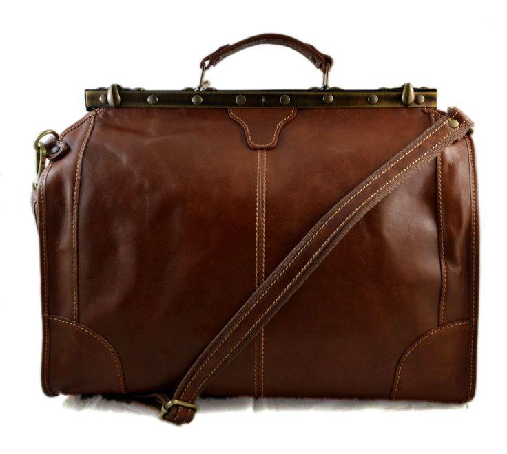 Leather doctor bag mens travel brown womens cabin luggage bag leather shoulder bag medical bag doctor bag weekender bag leather carryon by ItalianHandbags on Etsy https://www.etsy.com/listing/260800339/leather-doctor-bag-mens-travel-brown
