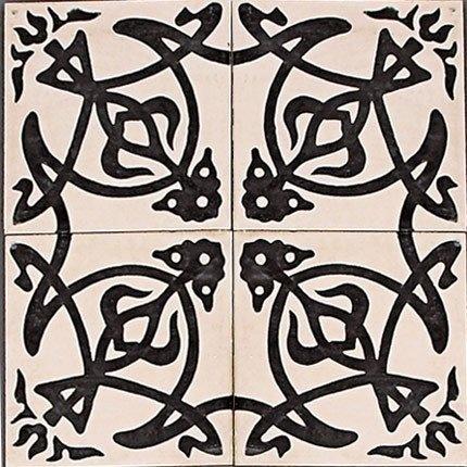 Un carrelage noir et blanc – Ceramis Azulejos