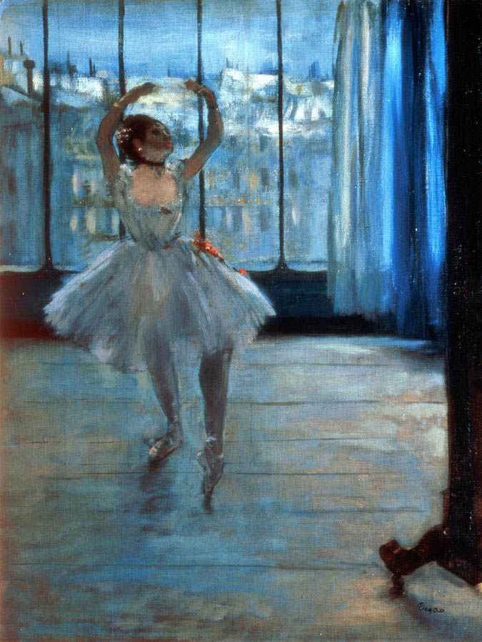 Edgar Degas, Dancer in Front of a Window (Dancer at the Photographer's Studio), c.1874-77, oil on canvas, 50 x 65 cm, Pushkin Museum, Moscow.