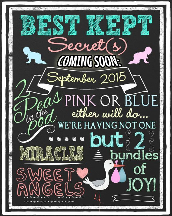 Twin pregnancy announcement unique way to by CustomPrintablesNY