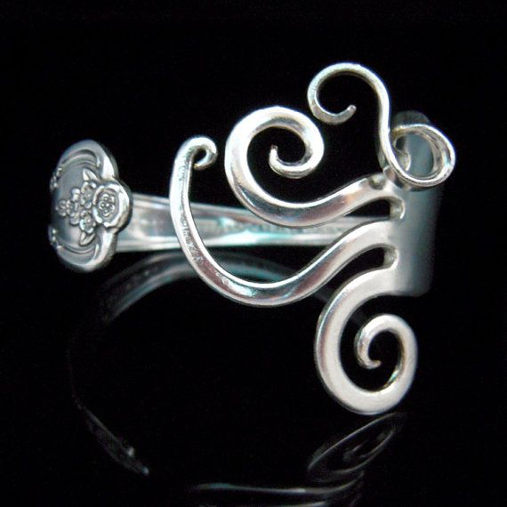 Repurposed Silverware Bracelet in Fancy Design by MarchelloArt, $29.99