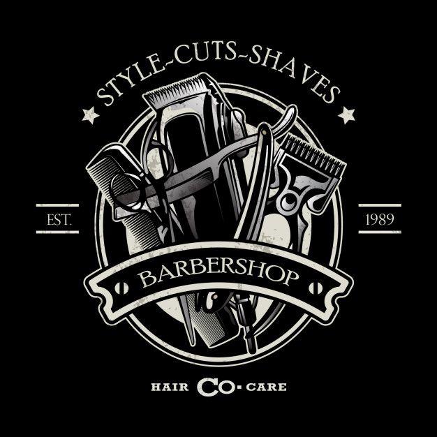 Modelo De Logotipo De Barbearia Barber Shop Barbershop Design Barber Logo