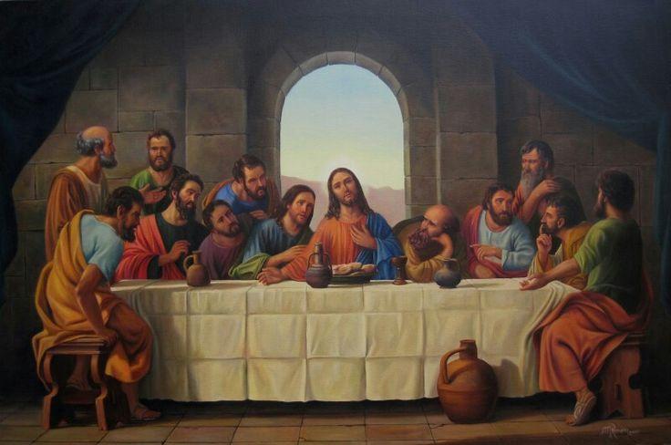 """Triduo Pascual - Jueves Santo. """"Tomad y comed todos de Él, porque esto es mi cuerpo, que será entregado por vosotros"""" (Primera Carta a los Corintios 11, 24-25). Autor de la Última Cena: Mauricio Romero (2009)."""