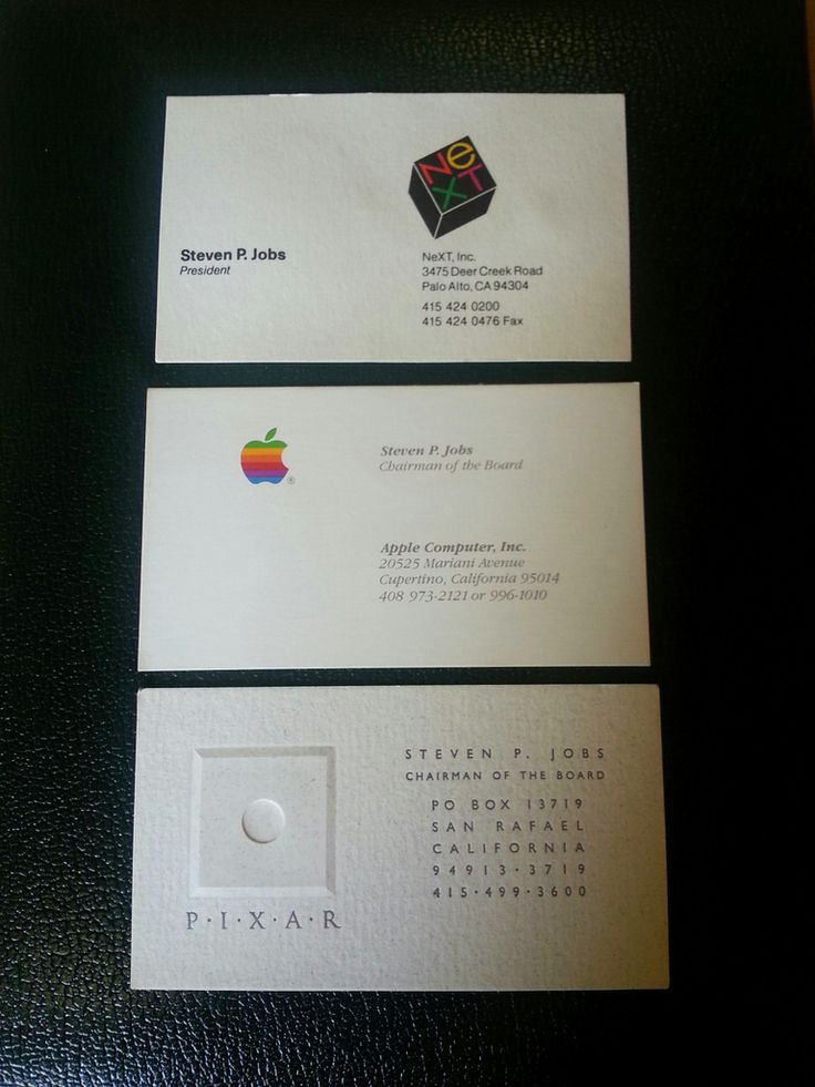 Got $3,000? You can bid for Steve Jobs Apple, Pixar and NEXT business cards