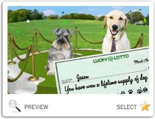 St. Patrick's Day Lucky Lotto dog ecard