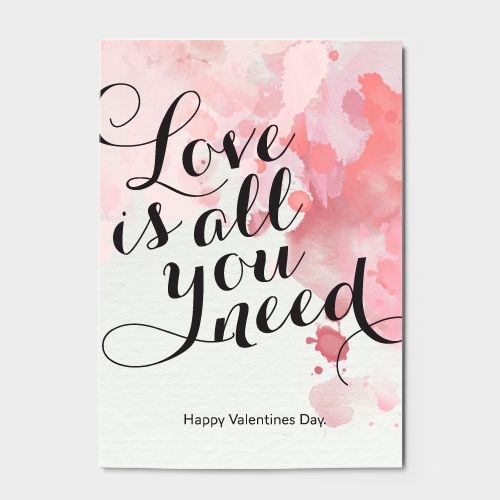 Free Printable Valentines cards, Set of Four Cards, By Canvas Stationery Boutique