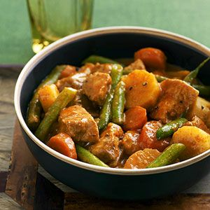 Simmer pork and delicious fresh vegetables in a slow cooker to create this easy, healthy one-dish meal. The 15-minute prep time makes it a snap to whip up before you head off to work.