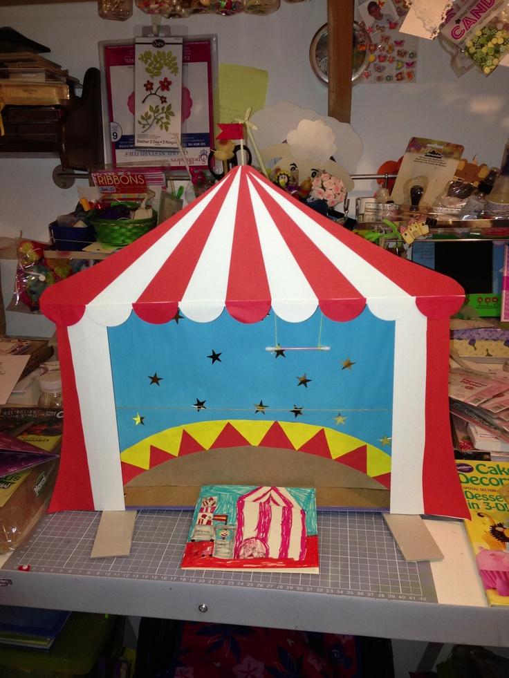Trabajo para el cole una carpa de circo a partir de una for Como hacer un criadero de carpas