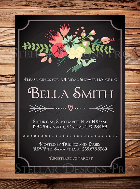 invitations for wedding 17 best ideas about bridal shower chalkboard on 5168