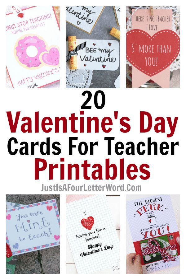 Love These Ideas For Teacher Valentine Gifts Simple And Sweet These Ideas And Free Printable Teacher Teacher Valentine Teacher Cards Teacher Valentine Cards
