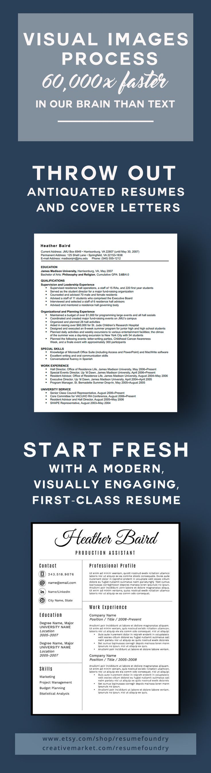 Visually engaging modern resume 222 best Modern