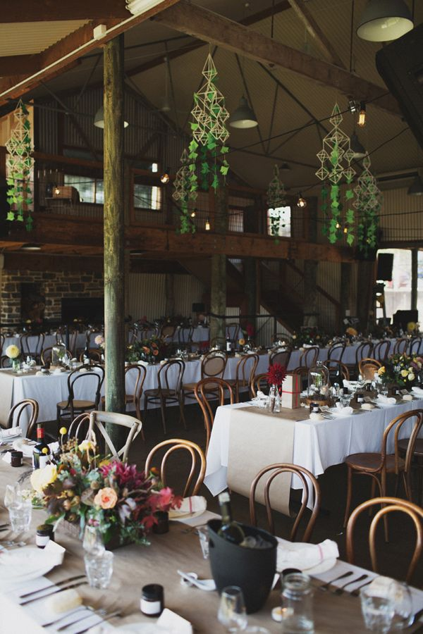 organic wedding reception - photo by Whitewall Photography http://ruffledblog.com/adelaide-hills-wedding-with-natural-materials #weddingreception #weddingideas