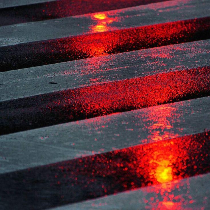 Red lights.  #vscocam #vsco #redlight #red #lights #zebracrossing #road #picofday #photo #photooftheday #rain #raining #rainyday #rainy #goodnight #buenasnoches #alcorcon #madrid #igersspain #igersmadrid by picpol