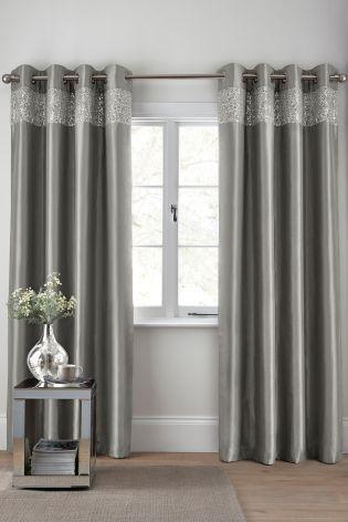 Shimmer Band Eyelet Curtains