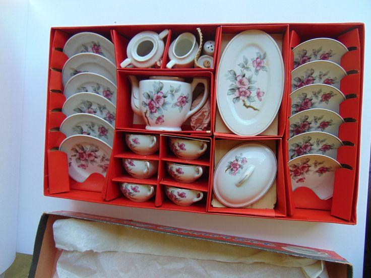 Details About Vintage Childs Toy Tea Set Porcelain Made In