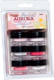 """SuperNail Twilight Aurora Kit – In two complete kits, """"Twilight"""" celebrates the delightful tales of the """"wee folk"""" and the beauty of their sparkling, fantastical world. With tiny reflective particles of holographic film that twinkle and wink in the dusk, """"Twilight"""" is like fairy gold for your fingertips!"""